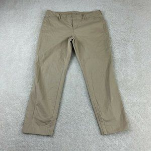 Old Navy Khaki Pixie Pants Womens 14 Tan Straight